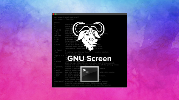 Running commands in the background with GNU Screen